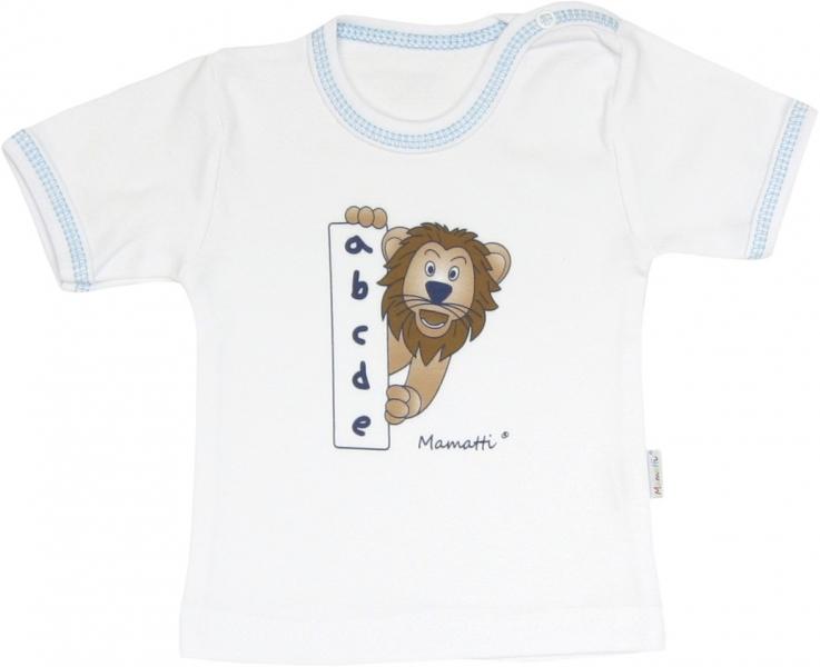 Bavlněné tričko Lev proužek - krátký rukáv, roz. 86, Velikost: 86 (12-18m)