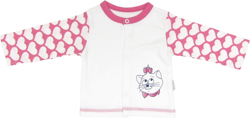 Bavlněná košilka Kočka Srdíčko, Velikost: 56 (1-2m)