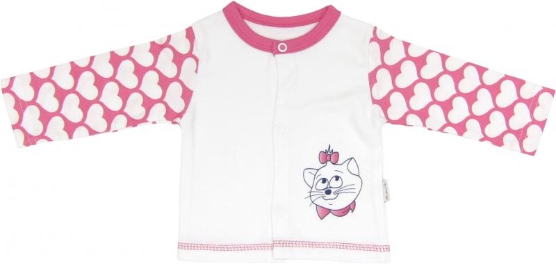 Bavlněná košilka Kočka Srdíčko, roz. 74, Velikost: 74 (6-9m)