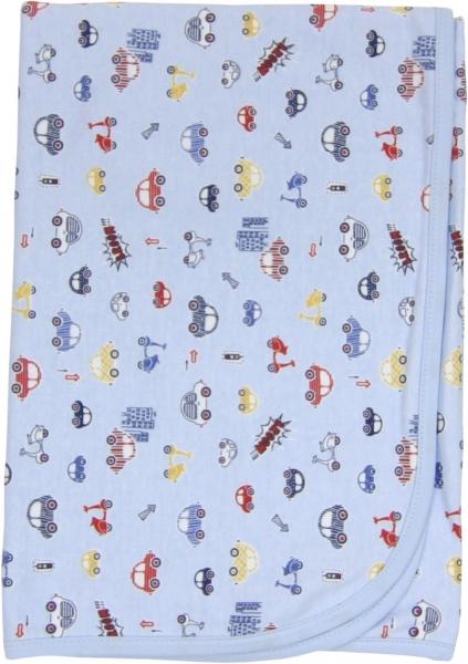 Dětská deka, dečka Veselé autíčko 80x90 - bavlna