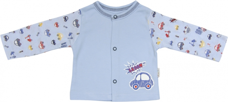Bavlněná košilka Veselé autíčko, roz. 68, Velikost: 68 (4-6m)