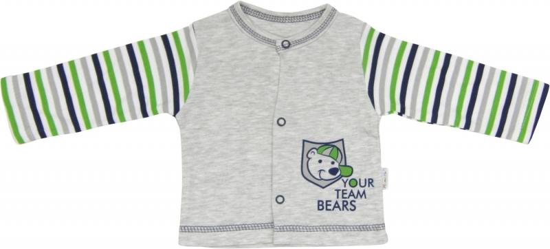 Bavlněná košilka Medvídek proužek, roz. 62, Velikost: 62 (2-3m)