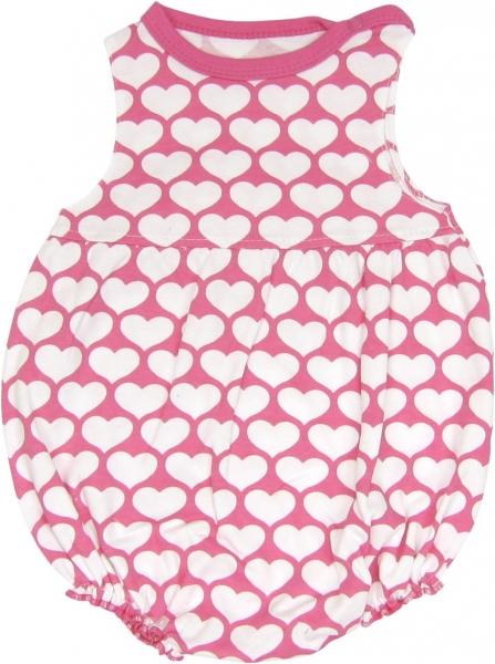 Body s nohavičkami Kočka Srdíčko - na ramínka, roz. 74, Velikost: 74 (6-9m)