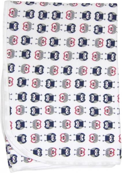 Dětská deka, dečka Sovy 80x90 - bavlna