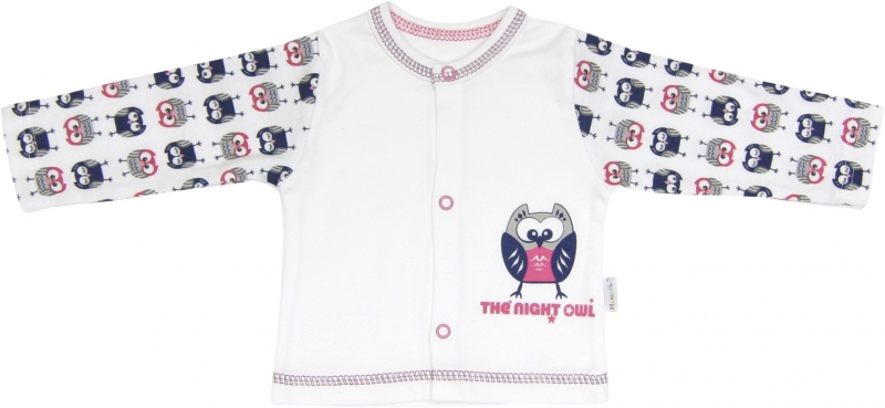 Bavlněná košilka Sovy, roz. 68, Velikost: 68 (4-6m)