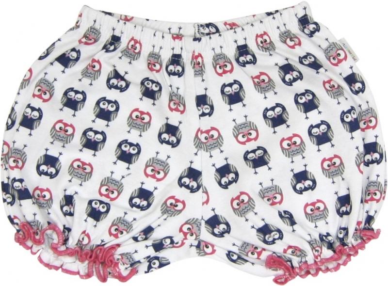 Bavlněné kalhotky, kraťásky Sovy, roz. 86, Velikost: 86 (12-18m)