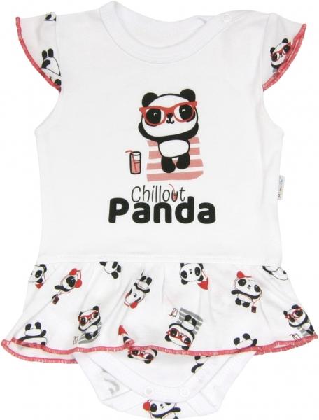 Sukničkobody Panda - krátký rukáv, roz. 80