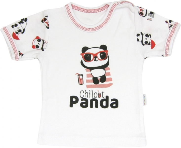 Bavlněné tričko Panda - krátký rukáv, roz. 86, Velikost: 86 (12-18m)