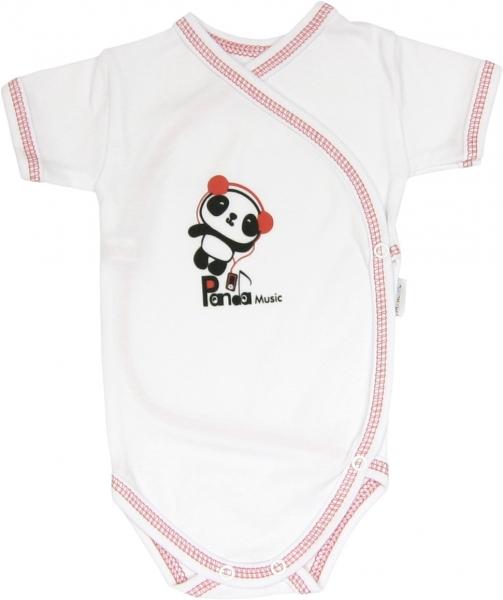 Body Panda- krátký rukáv - zapínání bokem, Velikost: 56 (1-2m)