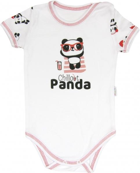 Body Panda - krátký rukáv, Velikost: 68 (4-6m)