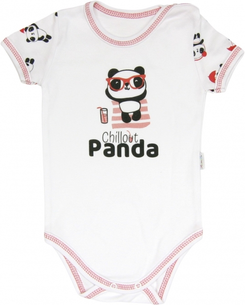 Mamatti Body Panda - krátký rukáv, roz. 98