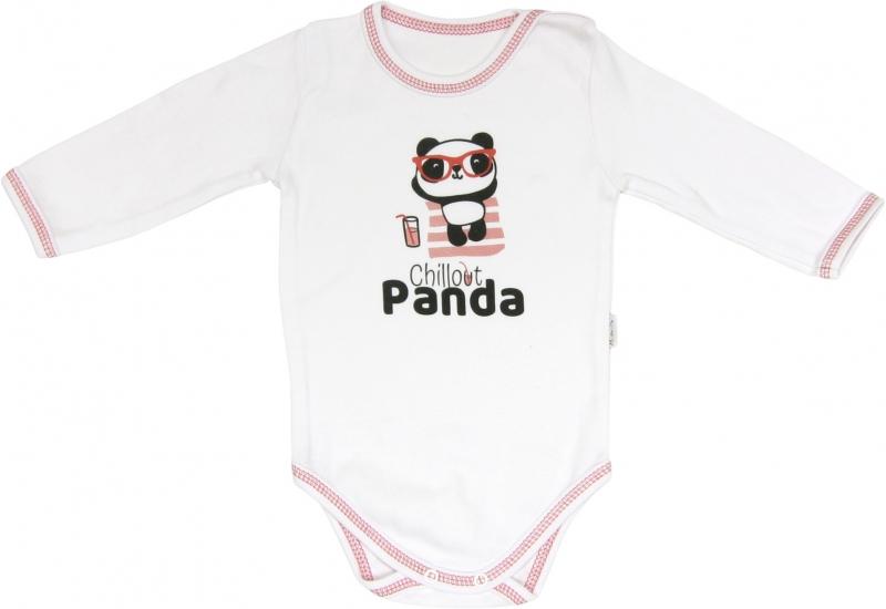 Kojenecké body Panda - dlouhý rukáv, roz. 74