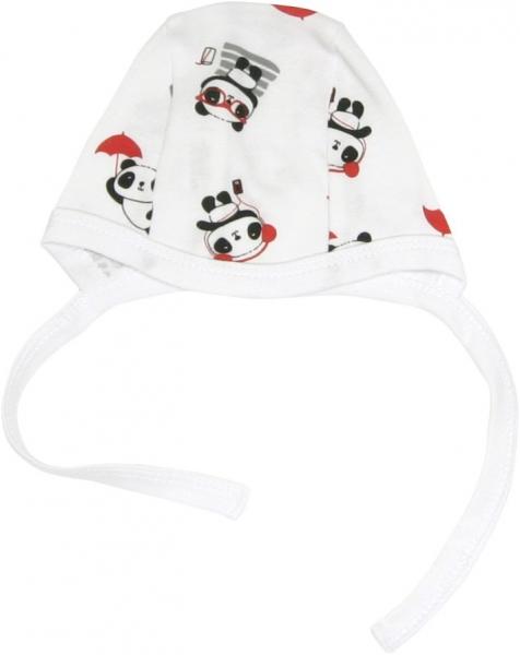 Novorozenecká čepička Panda, roz. 62