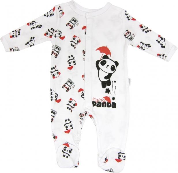 Kojenecký bavlněný overálek Panda, roz. 80, Velikost: 80 (9-12m)