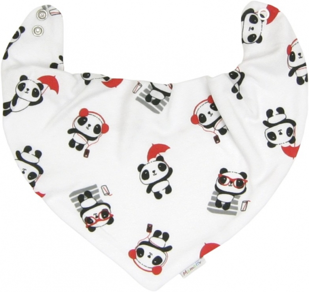 Dětský šátek na krk Panda (Vel. UNI, Mamatti HU9275, Kolekce: Panda - JL 2018)