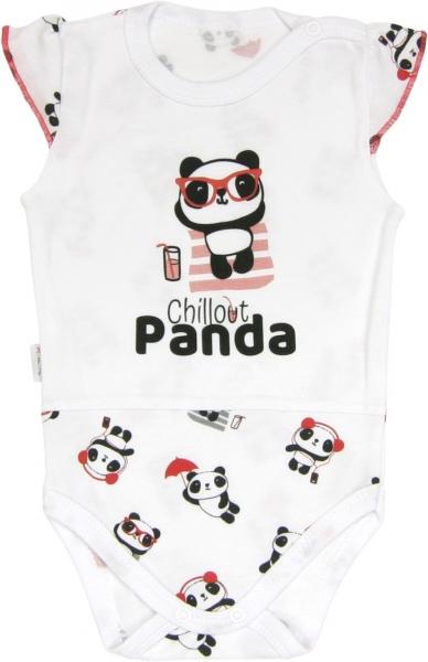 Mamatti Body Panda - na ramínka, roz. 86