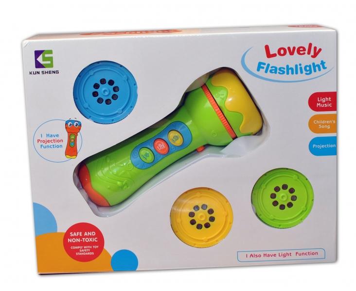 Euro Baby Dětský projektor - BATERKA - zelený