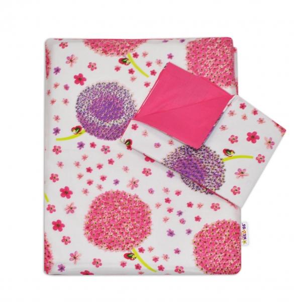 Mamo Tato 3-dílný set do postýlky s mantinelem - Pampelišky růžové