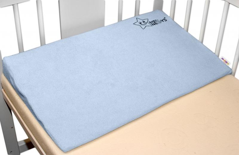 BABY NELLYS Zvýšená poloha/klín - modrý