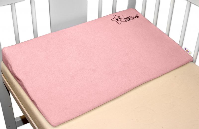BABY NELLYS Zvýšená poloha/klín - růžový