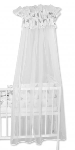 Baby Nellys Luxusní moskytiéra 170x400cm Motýlci šeďí