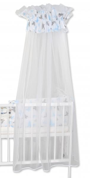 Baby Nellys Luxusní moskytiéra 170x400cm Motýlci modří