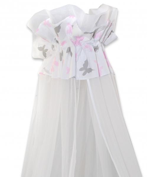 Luxusní moskytiéra 170x400cm Motýlci růžoví