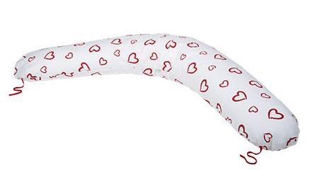 Kojící polštář - relaxační poduška, duté vlákno PUPPY LOVE červený