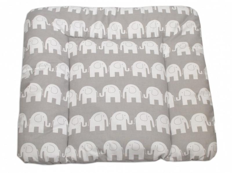 Mamo Tato Přebalovací podložka 70x75cm, Sloni bílí v šedé