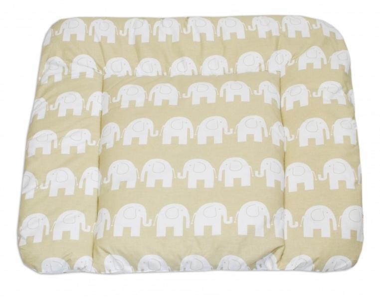 Mamo Tato Přebalovací podložka 70x75cm, Sloni bílí v béžové