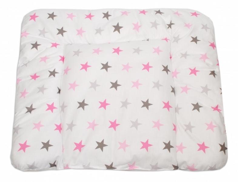 Mamo Tato Přebalovací podložka 70x75cm, Hvězdičky růžové, šedé