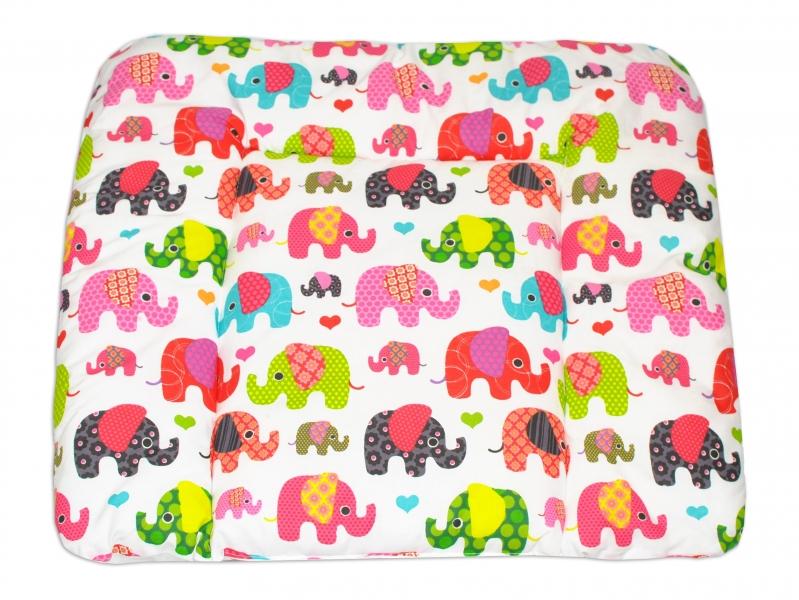 Mamo Tato Přebalovací podložka 70x75cm, Sloni růžoví