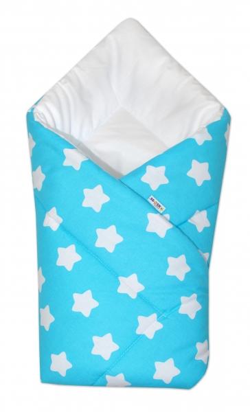 Novorozenecká rychlozavinovačka Klasik - Sweet Stars - tyrkysová