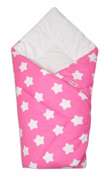 Novorozenecká rychlozavinovačka Klasik - Sweet Stars - růžová