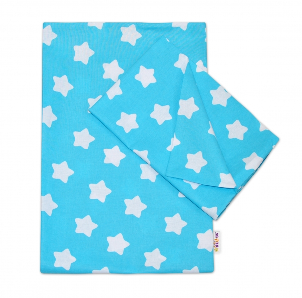 2-dílné bavlněné povlečení  Sweet Stars - tyrkysové