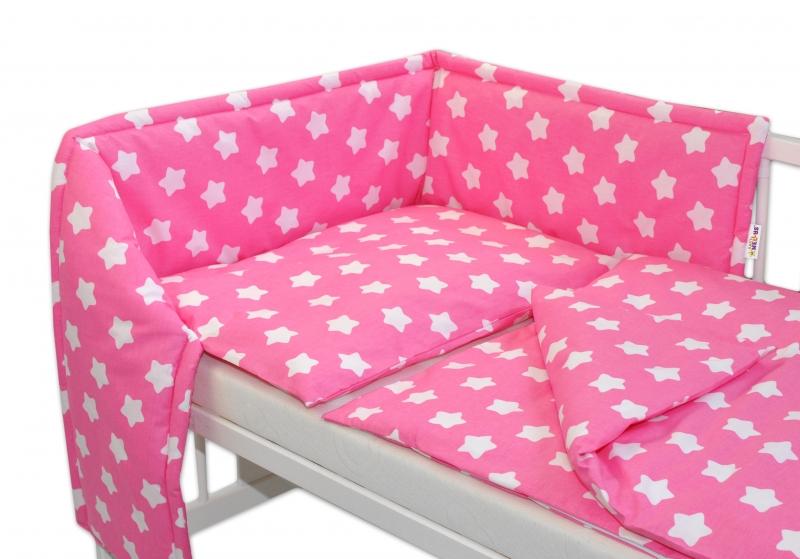 Mantinel s povlečením - Sweet Stars - růžová, 135x100
