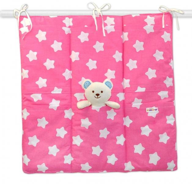 Kapsář 6 kapsiček, 55x60cm Sweet Stars - růžový