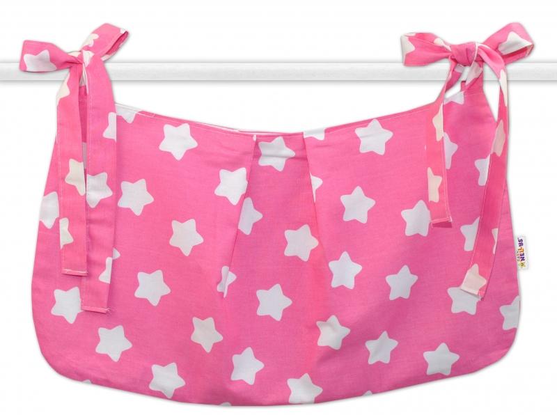 Kapsář na hračky Sweet Stars - růžový