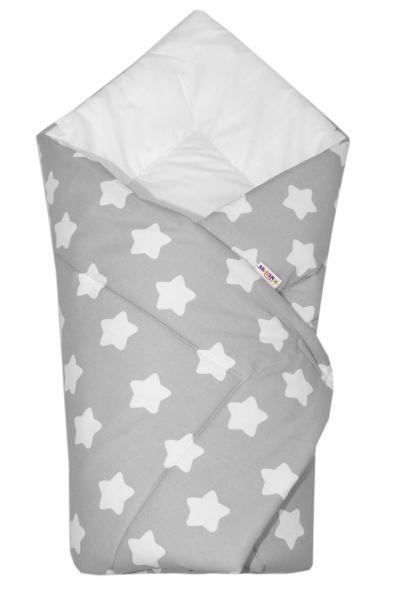 Novorozenecká rychlozavinovačka Klasik - Sweet Stars - šedá