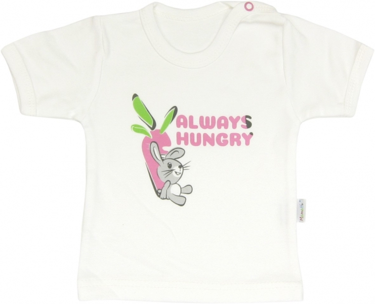 Bavlněné tričko Zajíček - krátký rukáv, roz. 80, Velikost: 80 (9-12m)