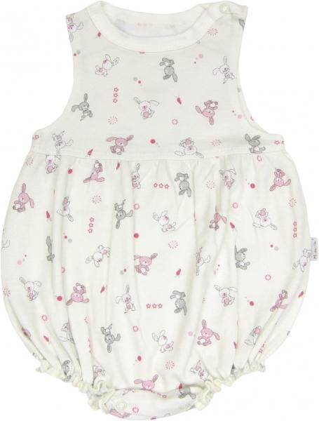 Body s nohavičkami Zajíček - na ramínka, roz. 74, Velikost: 74 (6-9m)