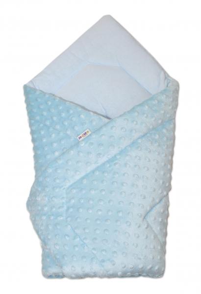 Luxusní zavinovačka 75x75, Minky Baby - sv. modrá