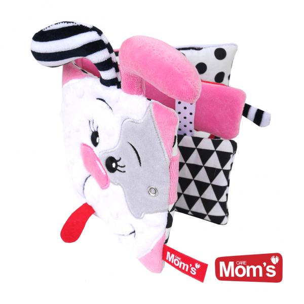 Hencz Toys Textilní knížka šustík se zrcátkem a kousátkem Pejsek Pinky