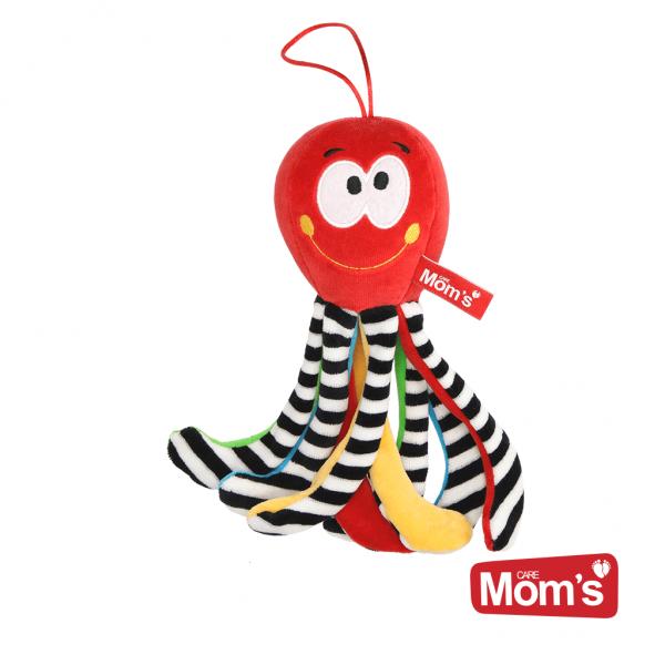 Hencz Toys Edukační hračka Chobotnička s rolničkou - červená
