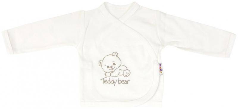 Košilka pro předčasně narozené děti Baby Teddy - zapínání bokem