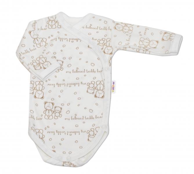Body pro předčasně narozené děti vel. 50, Baby Teddy - dlouhý rukáv - zapínání bokem