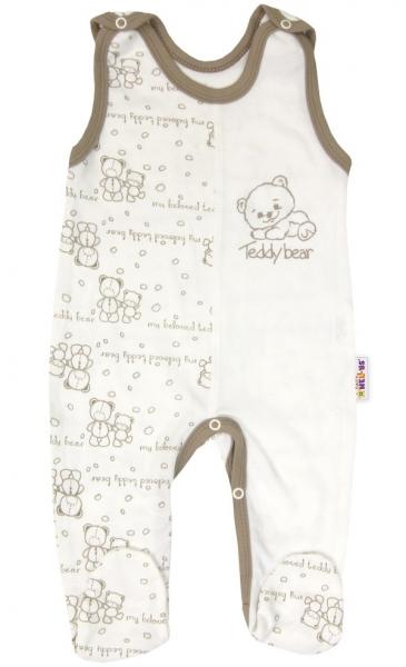 Baby Nellys Kojenecké bavlněné dupačky vel. 62 -Baby Teddy