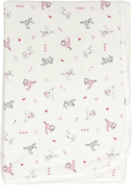 Dětská deka, dečka Zajíček 80x90 - bavlna