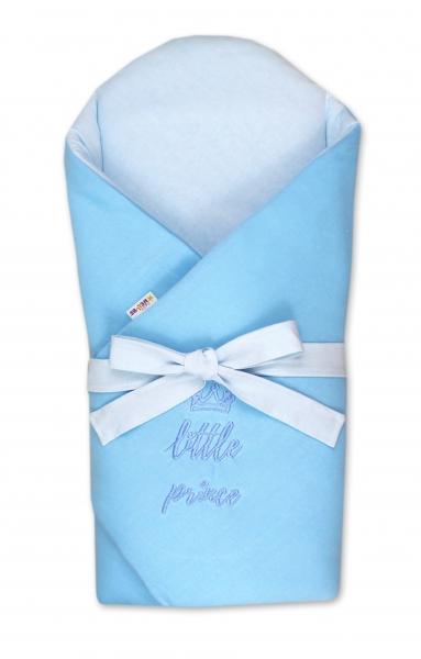 Baby Nellys Novorozenecká zavinovačka s výztuží zad Little Prince - sv. modrá