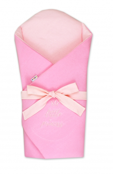 Baby Nellys Novorozenecká zavinovačka s výztuží zad Little Princess - sv. růžová